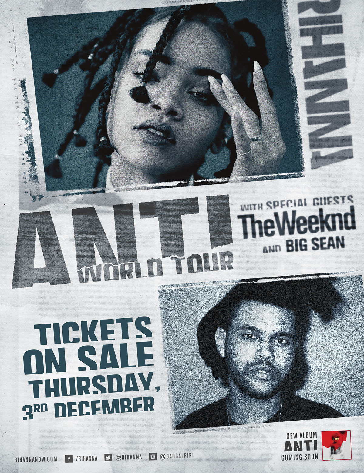 Anti - Tickets on sale Thursday 3rd December