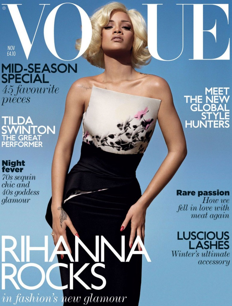 Rihanna Rocks Vogue UK - Rihanna